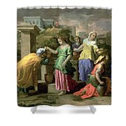 Eliezer And Rebecca At The Well Shower Curtain