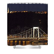 Elisabeth Bridge Budapest Shower Curtain