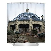 Elitch Carousel Pavilion Shower Curtain