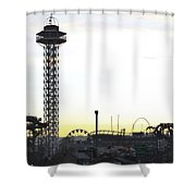 Elitch Gardens Night 2 Shower Curtain