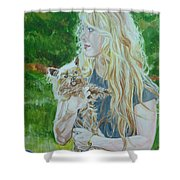 Elizabeth South And Ginger Shower Curtain