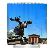 Elk And Monument Shower Curtain