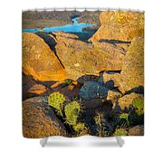 Elk Mountain Sunset Shower Curtain