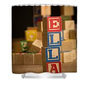 Ella - Alphabet Blocks Shower Curtain