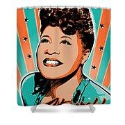 Ella Fitzgerald Pop Art Shower Curtain
