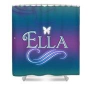 Ella Name Art Shower Curtain
