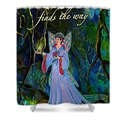 Ella Rose-courage Lights The Way Shower Curtain