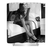 Raquel Bw Palm Springs Shower Curtain