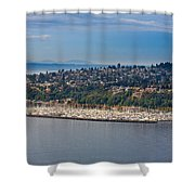 Elliott Bay Marina Shower Curtain