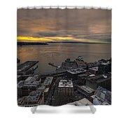 Elliott Bay Seattle Evening Shower Curtain