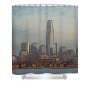 Ellis Island And The Freedom Tower Shower Curtain