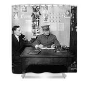 Ellis Island: Testing, C1914 Shower Curtain