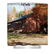 Elm Offices - Davidson College Shower Curtain