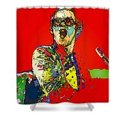 Elton In Red Shower Curtain