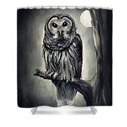 Elusive Owl Shower Curtain