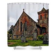 Elvanfoot Parish Church Shower Curtain by Marcia Colelli