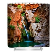 Elves Chasm Shower Curtain by Inge Johnsson