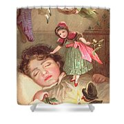 Elves Delivering Christmas Gifts Shower Curtain