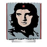 Elvis Che Guevara Viva Las Vegas Shower Curtain