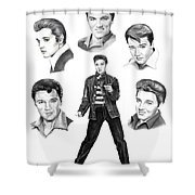 Elvis Elvis Elvis Shower Curtain
