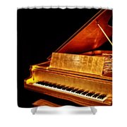 Elvis' Gold Piano Shower Curtain