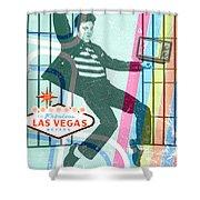 Elvis Jailhouse Rock Shower Curtain