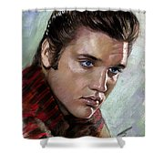 Elvis King Of Rock And Roll Shower Curtain