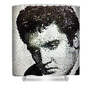 Elvis Love Me Tender Mosaic Shower Curtain
