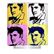 Elvis Pop X Four Shower Curtain