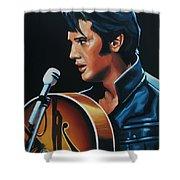 Elvis Presley 3 Painting Shower Curtain