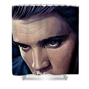 Elvis Presley Artwork 2 Shower Curtain