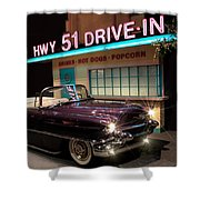 Elvis Presley Cadillac Shower Curtain