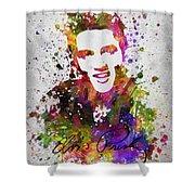 Elvis Presley In Color Shower Curtain