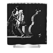 Elvis Presley Performing At The Fox Theater 1956 Shower Curtain