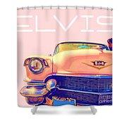 Elvis Presley Pink Cadillac Shower Curtain