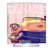 Elvis Presley Pink Cadillac Shower Curtain