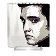 Elvis Presley Portrait Art Shower Curtain