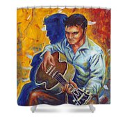 Elvis Presley- Shadow Duet Shower Curtain