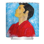 Elvis Presley Singing Shower Curtain