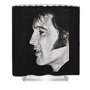 Elvis Presley  The King Shower Curtain