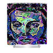 Elvis The King Abstract Shower Curtain