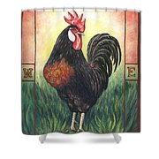 Elvis The Rooster Shower Curtain