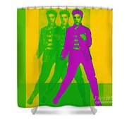 Elvis Three 20130215 Shower Curtain by Wingsdomain Art and Photography