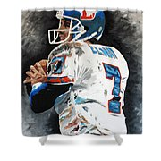Elway Shower Curtain by Don Medina