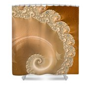 Embellished Blond Wood Shower Curtain