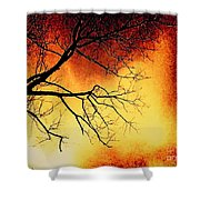 Ember Bough Shower Curtain