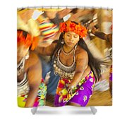 Embera Villagers In Panama Shower Curtain
