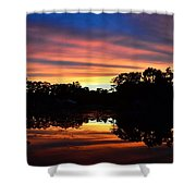 Embers Of The Day Shower Curtain