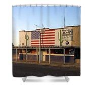Emblazoned American Flag Silver Dollar Bar Eloy Arizona 2004 Shower Curtain