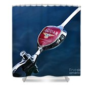 Emblem - Winner Le Mans 1951-3  Shower Curtain